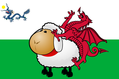 800px-Wales dragon sheep flag