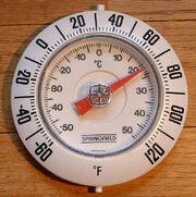 Raumthermometer Fahrenheit+Celsius