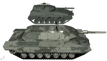Tanque argentino pesado y mediano