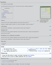 Wikipedia layout sample Notes References