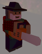 Player holding Chainsaw