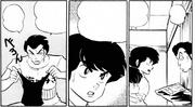 Ryuunosuke's father displays the swimsuit - Swimsuit Rhapsody