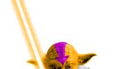 Orange Yoda