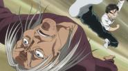 Ushio kicking his father