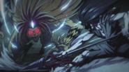 Tora fighting the Spear Wielder