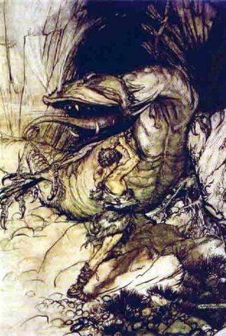 File:Sigurd kills Fafnir by Rackham.jpg