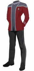 Uniform steward red crewman