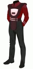 Uniform duty red crewman security armor