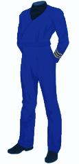 Uniform utility blue commander