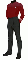 Uniform duty red crewman