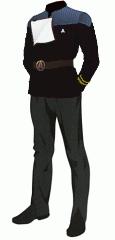 Uniform dress black lt