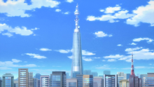 Shining Tower in the anime