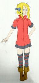 Urahara Akane (casual attire concept art)