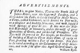 Virginia gazette founding of rva