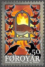 Faroe stamp - gossip