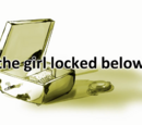 The girl locked below