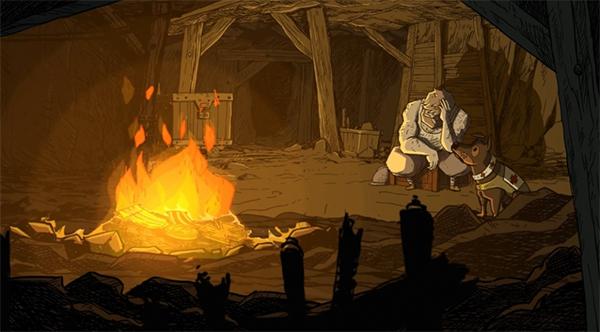 File:Walt i Emil siedzą przy ognisku.jpg