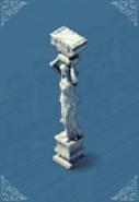 Girl Stone Pillar