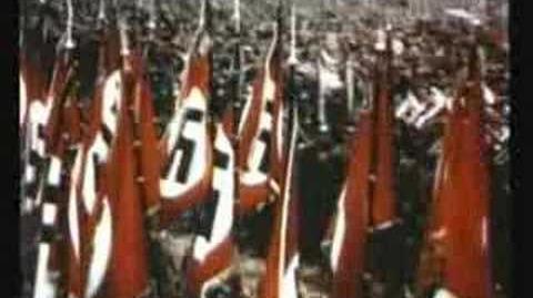 NAZI RALLY IN COLOUR 1937