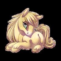 Parchment Unicorn Baby