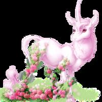 Carnations Heraldic Unicorn