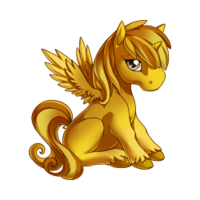 Gold Alicorn Baby