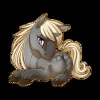 Silver Dapple Unicorn Baby