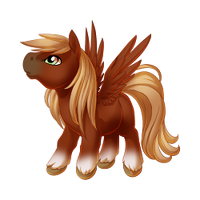Red Chestnut Pegasus Baby