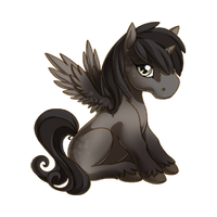 Steel Alicorn Baby
