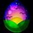 Sunset Alicorn Egg