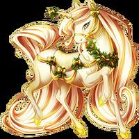 Gold and Candlelight Unicorn V2