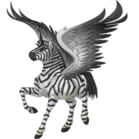 Zebra Alicorn