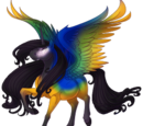 Blue Gold Macaw Alicorn