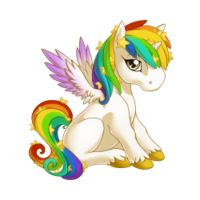 Celestial Rainbow Alicorn Baby