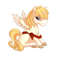 Little Red Ribbon Alicorn Baby