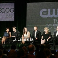 Kat Graham, Paul Wesley, Nina Dobrev, Kevin Williamson, Bob Levy