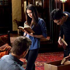 Damon, Katherine and Stefan.