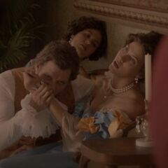 Klaus draining 2 girls
