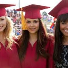 Elena ,Bonnie,and Caroline in graduation