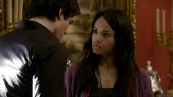TVD 2x01 Bonnie Pain Infliction on Damon