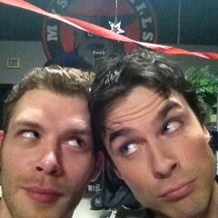 Joseph and Ian on the set