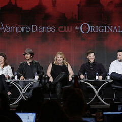 Caroline Dries, Ian Somerhalder, Julie Plec, Joseph Morgan, Michael Narducci