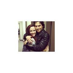 Annie hugs Ian
