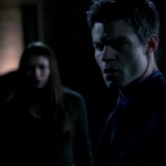 Elijah after saving Elenas life from Rebekah