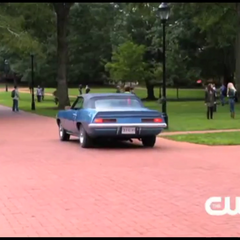 Damon's car at Whitmore College