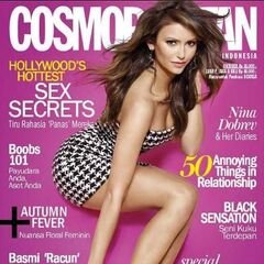 Cosmopolitan — Oct 2013, Indonesia, Nina Dobrev