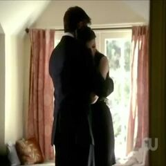 Elena Gilbert and Jeremy Gilbert before the funeral.