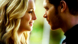 Klaus and Caroline smiles
