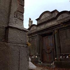 The exterior of the mausoleum