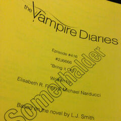 Title Reveal: January 19, 2013 by Ian Somerhalder